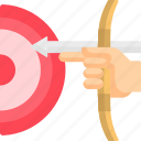 arrow, bow, direction, pointer, up icon