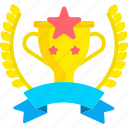 award, cup, medal, star, trophy, winner icon