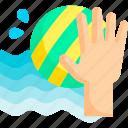 polo, sea, summer, water icon