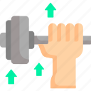 dumbbell, exercise, fitness, game, gym, play, sport icon