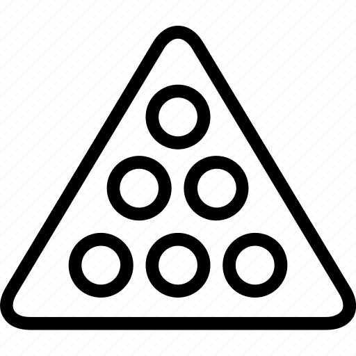 circles, entertainment, games, sports, triangle icon