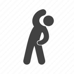 athlete, exercise, fitness, gym, sports, standing, stretch icon