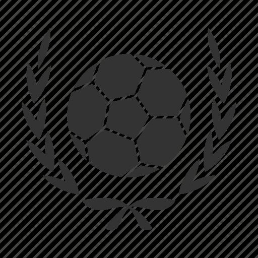 ball, football, laurel, soccer, sport, win, wreath icon