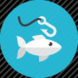 fish, fishing icon