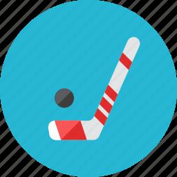 hockey, hockey stick icon