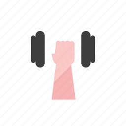 2, dumbbell icon