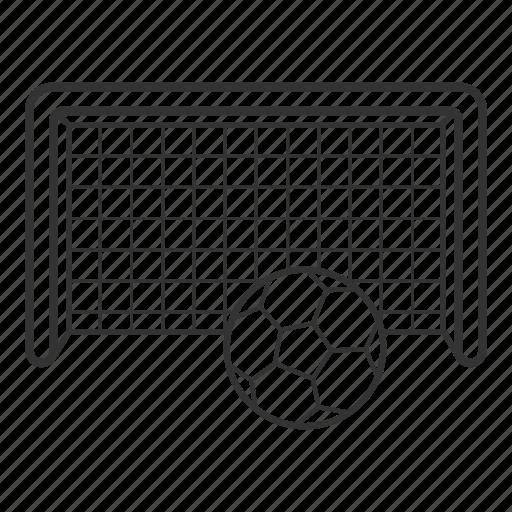 ball, equipment, football, goalpost, net, soccer net, sport icon