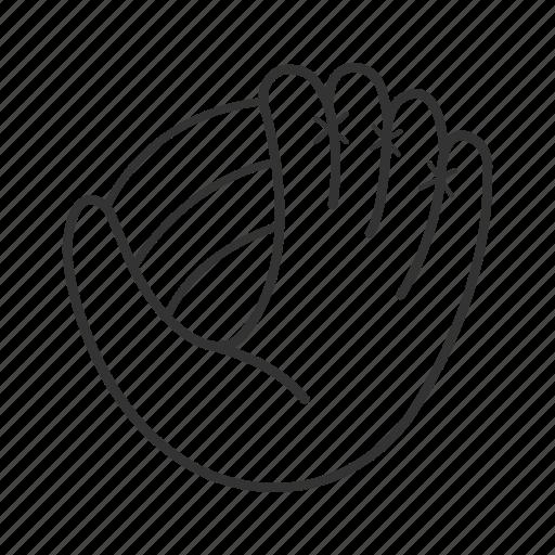 baseball, equipment, game, glove, hand, mitten, sport icon