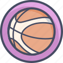 ball, basket, basketball, bna, games, sports icon
