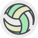 ball, beach, fitness, health, sports, volley icon