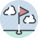 course, fitness, flag, golf, hole, sport icon