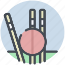 ball, cricket, fitness, stumps icon