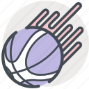 ball, basketball, flaming, games, nbs, sports icon