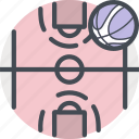 ball, basketball, court, fitness, game, nba, sports icon