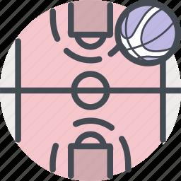 ball, basketball, court, fitness, game, nba, sports icon