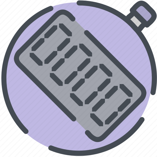 clock, digital, fitness, health, sports, stop, watch icon