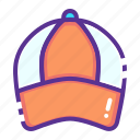 accessory, cap, golf, sports, wear icon