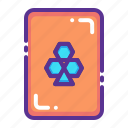 card, casino, clover, gamble, gambling, luck, playing icon