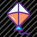 fly, flying, kite icon