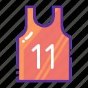 basketball, clothing, marathon, sports, vest, wear icon