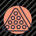 balls, billiards, game, pool, racked, set, snooker icon