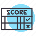 card, game, mark, score, scorecard icon