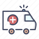 ambulance, care, emergency, health, medical, medicare icon