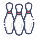 bowl, bowling, game, pin, pins, tenpin icon