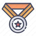 achieve, champion, honor, medal, prize, winner icon