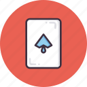 card, casino, gamble, gambling, luck, playing, spade icon