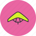 diving, glider, gliding, paraglider, paragliding, sky icon