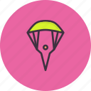 glider, parachute, paraglider, paragliding, skydiving, skyfall icon