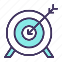 archery, arrow, bullseye, game, olympics, target icon