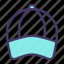 accessory, cap, golf, sports, wear icon