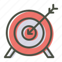 archery, arrow, bullseye, game, olympics, target icon