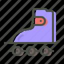 roller, rolling, shoes, skate, skater, skating icon