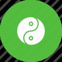 philosophy, spirituality, taoism, yang, yin icon