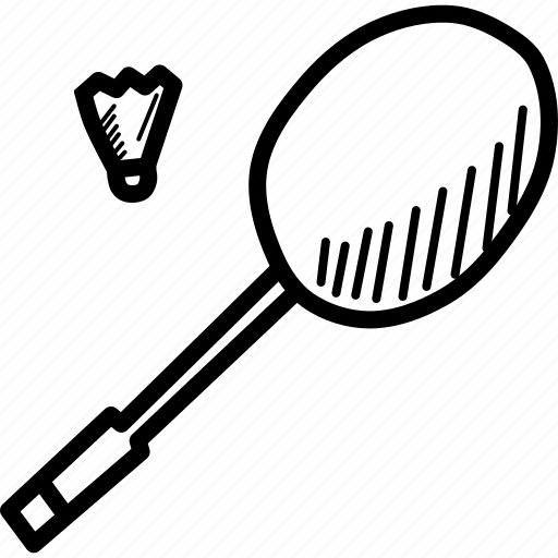 badminton, cock, olympics, racket, racquet, shuttle, sports icon