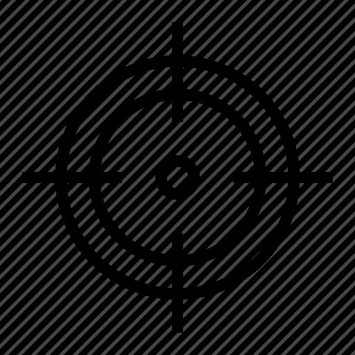 aim, crosshair, goal, hit, marketing, shoot, target icon