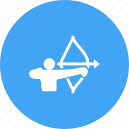 archer, arrow, bow, game, shoot, sports, target icon