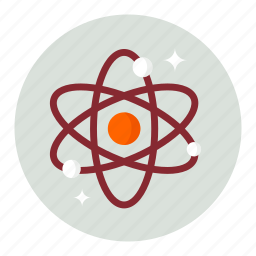 atom, atomic, chemistry, nuclear, research, science icon