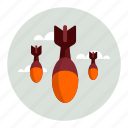 bombs, sky icon