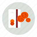card, cash, coins, credit, currency, finance, financial, money icon