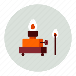 fire, flame, light icon