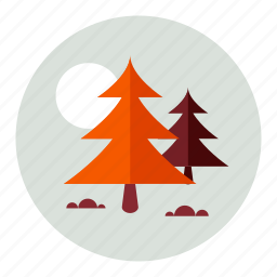 forest, moon icon