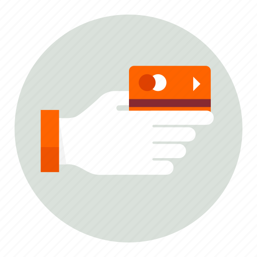 card, credit, finance, hand, money icon