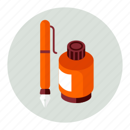and, ink, pen, write icon