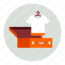 baggage, clothes, clothing, luggage, tshirt icon