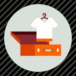 baggage, clothes, clothing, luggage, tshirt icon