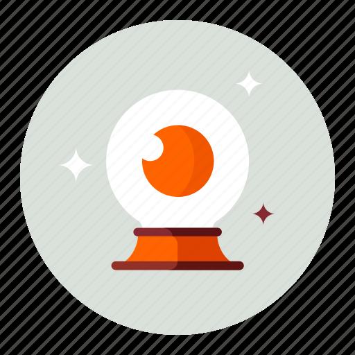 Eye, globe, magic icon